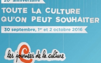 Les journées de la Culture : 20 ans d'activités culturelles!