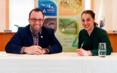 Des territoires durables : La Ville de Gaspé et la MRC Rocher-Percé  signent une nouvelle entente de partenariat!