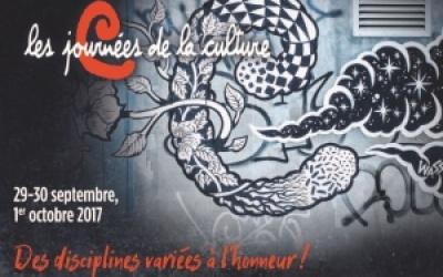 Journées de la Culture 2017 - Des disciplines variées à l'honneur!