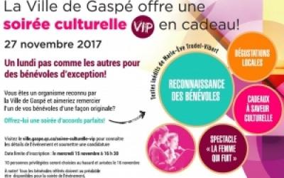 OFFREZ LA CHANCE À UN BÉNÉVOLE DE VIVRE SA SOIRÉE CULTURELLE VIP!