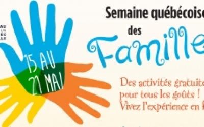 Semaine québécoise de la Famille : Une programmation variée pour vous réunir en famille à Gaspé!