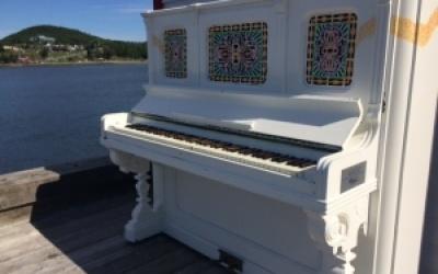 Un piano public unique sur le site Berceau de Canada!
